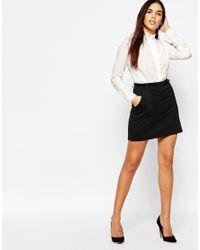 Warehouse - White Clean Ruffle Shirt - Lyst