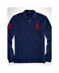 Polo Ralph Lauren - Blue Custom-fit Big Pony Polo for Men - Lyst