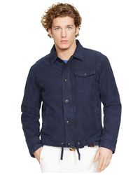 Polo Ralph Lauren - Blue Twill Deck Jacket for Men - Lyst