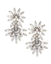 DANNIJO | Metallic Katie Large Crystal Earrings | Lyst