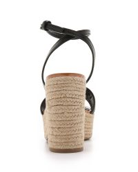 Tory Burch - Black Marion Quilted Espadrille Sandals - Lyst