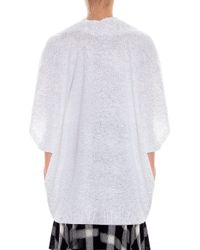 Vince - Gray Oversized Top - Lyst