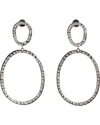 Ileana Makri | Metallic again Double-drop Earrings | Lyst