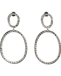Ileana Makri - Metallic again Double-drop Earrings - Lyst