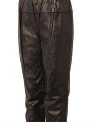 3.1 Phillip Lim - Black Nappa Leather Track Pants - Lyst
