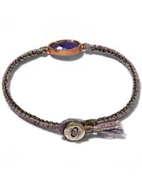 Brooke Gregson - Blue Gold Orbit Rose Tanzanite Silk Bracelet - Lyst