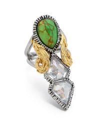 Alexis Bittar - Green Elongated Olmeca Ring Turquoise Multi - Lyst