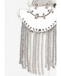 Forever 21 - Metallic Chain Fringe Duster Earrings - Lyst