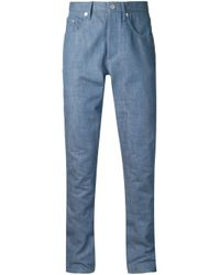Maison Kitsuné   Blue Slim Fit Jeans for Men   Lyst