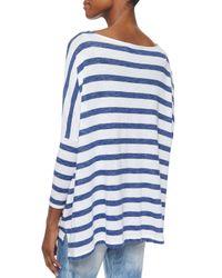 Ralph Lauren Black Label - Blue Striped Boat-Neck Dolman Top - Lyst