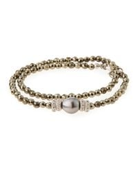 Armenta | Gray New World Tahitian Pearl & Diamond Wrap Bracelet | Lyst