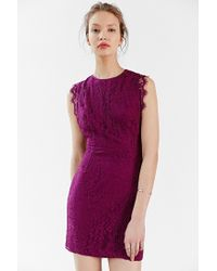 Kimchi Blue - Pink Pinafore Lace Mini Dress - Lyst