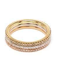 Rosa De La Cruz | Metallic Diamond Band Phalanx Ring | Lyst
