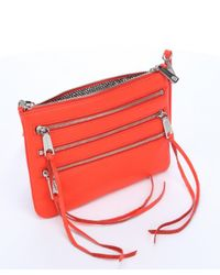 Rebecca Minkoff - Hot Orange Leather '3 Zip Rocker' Crossbody - Lyst