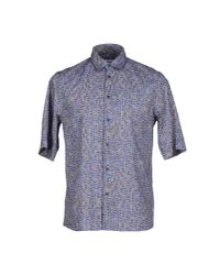 Mauro Grifoni - Blue Shirt for Men - Lyst