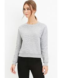 Forever 21 | Gray Pebbled Matelassé Jumper | Lyst