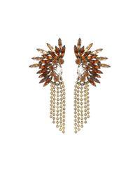 DANNIJO | Brown Oksana Drop Earrings | Lyst