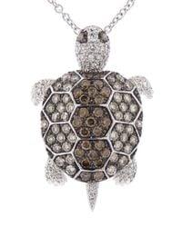Pippo Perez | White Diamond Turtle Pendant | Lyst