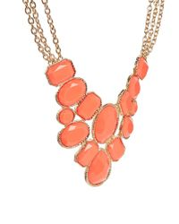 ALDO - Red Rosna Stone Set Coral Collar Necklace - Lyst