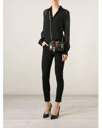 Moschino - Black Biker Sheepskin Shoulder Bag - Lyst