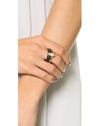Alexis Bittar | Crystal Movable Band Ring - Black | Lyst