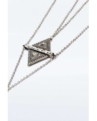 Urban Outfitters | Metallic Facet Triangle Statement Pendant Necklace | Lyst