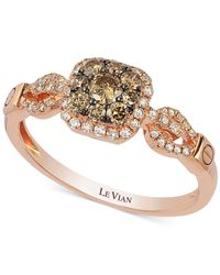 Le Vian | Pink Diamond Square Cluster Ring In 14k Rose Gold (1/2 Ct. T.w.) | Lyst