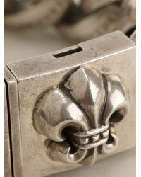 Chrome Hearts | Metallic Rolo Chain Fleur-de-lis Bracelet | Lyst