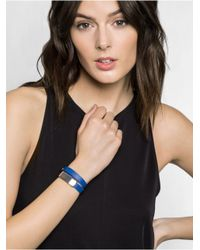 BaubleBar | Blue Double Leather Wrap Bracelet | Lyst