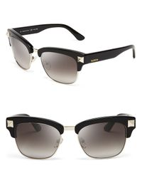 Valentino - Black Rockstud Clubmaster Sunglasses for Men - Lyst