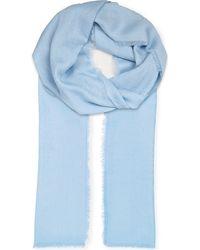 Loewe | Blue Anagram Jacquard Scarf | Lyst