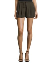 Haute Hippie - Green Mid-rise Summer Shorts - Lyst