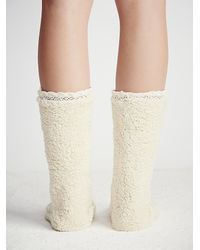 Free People | White Lemons Womens Lodge Slipper Sock | Lyst