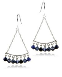 Lord & Taylor | Blue Beaded Chandelier Earrings | Lyst