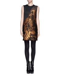 3.1 Phillip Lim - Metallic Landscape Motif Shift Dress - Lyst