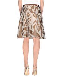 Momoní - Natural Knee Length Skirt - Lyst