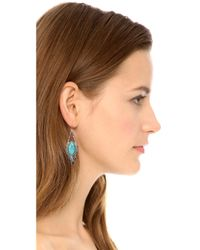 Alexis Bittar | Blue Feathered Tear Doublet Pave Earrings Turquoise | Lyst
