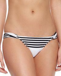 ViX - Black Striped Low-rise Swim Bottom - Lyst