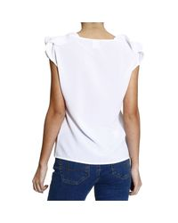 Pinko - White Top Woman - Lyst