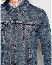ASOS - Blue Denim Jacket In Skinny Fit for Men - Lyst