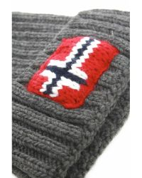 Napapijri | Gray Semiury Bobble Hat for Men | Lyst
