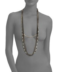 ABS By Allen Schwartz - Metallic Bitter Not Sweet Draped Multi-row Chain Necklace - Lyst