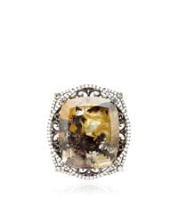 Bochic - Orange Marbled Moss Agate and Diamond Ring - Lyst