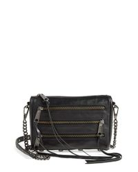 Rebecca Minkoff | Black 'Mini 5 Zip' Convertible Crossbody Bag | Lyst