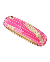 Sequin | Pink Wide Insect-wing Bangle | Lyst