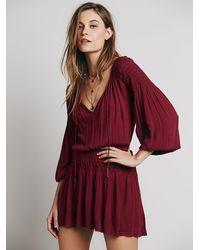 Free People - Purple Endless Summer Womens Chrysanthemum Dress - Lyst