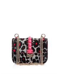Valentino | Pink The Lock Calfhair Shoulder Bag | Lyst