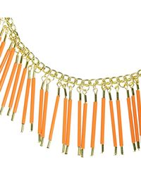 River Island | Girls Orange Beaded Collar Necklace | Lyst
