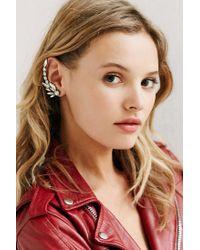 Amber Sceats - Metallic Crystal Ear Crawler - Clear - Lyst