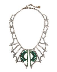DANNIJO | Metallic Parker Crystal Bib Necklace | Lyst